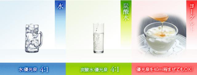 優光泉の作り方【混ぜると相性がいい飲み物】